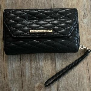 Rebecca Minkoff Black Leather Quilted Wallet